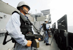 Japanese armed guards
