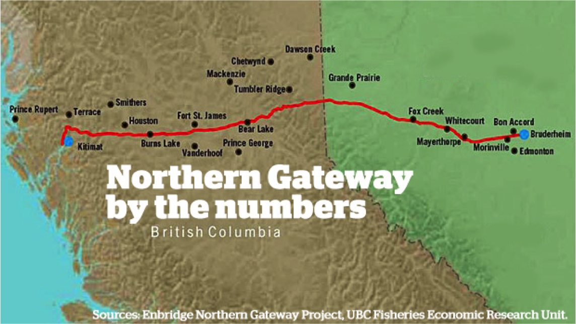 Northern Gateway Pipeline Map Northern Gateway Pipeline and Canada – The Cost of Accessing