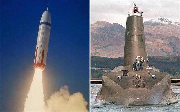 Trident ICBM of US navy