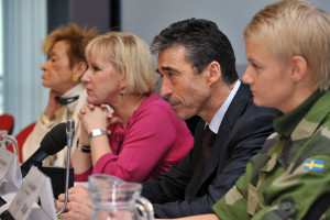 "100127i-003 NATO Secretary General, Anders Fogh Rasmussen addresses the conference ""Women, Peace and Security"" organized by the Security and Defence Agenda at the EU in Brussels."