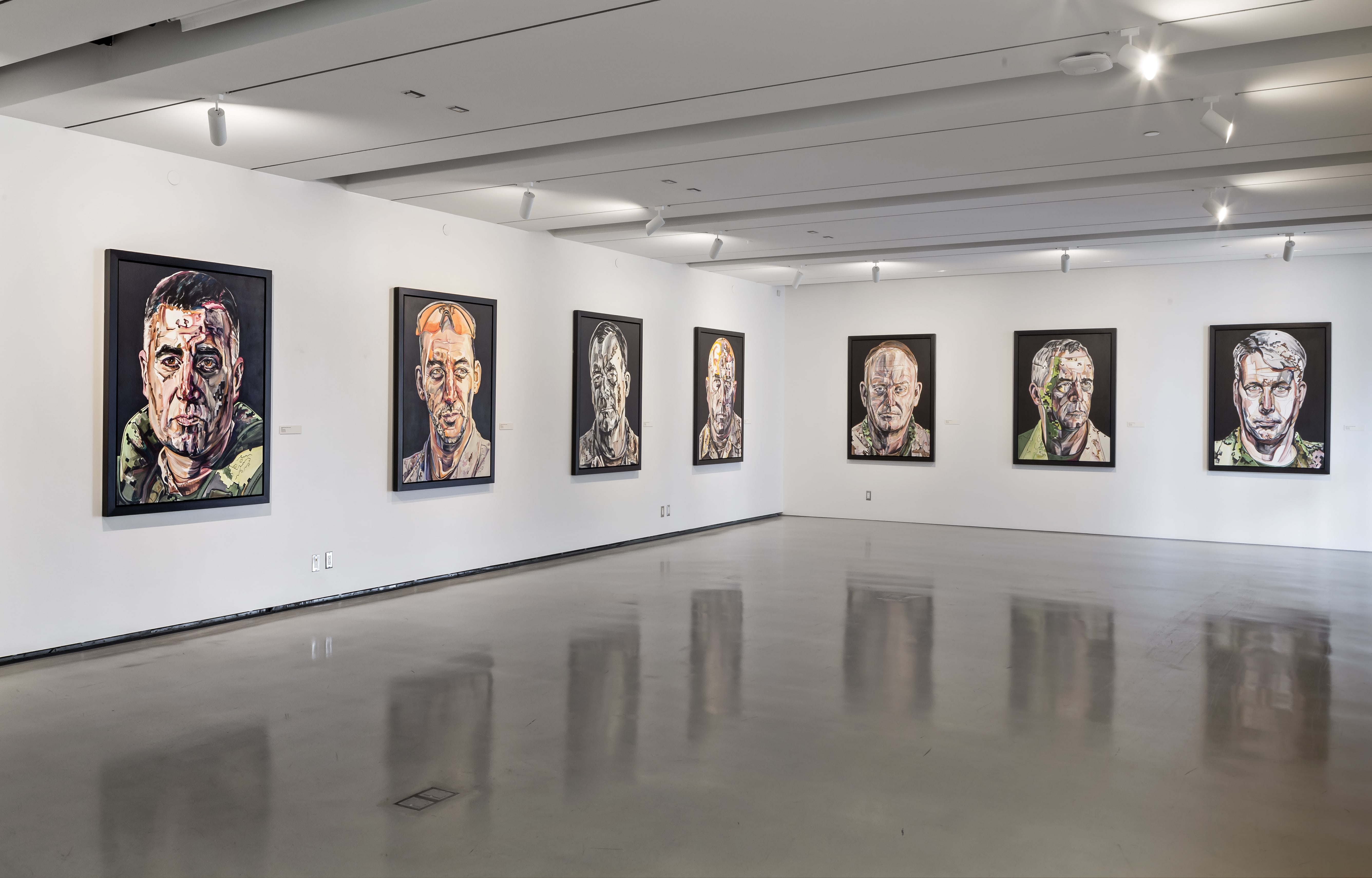 The Art of Command Gertrude Kearns CF portraits Fort York Visitor Centre 2015-min