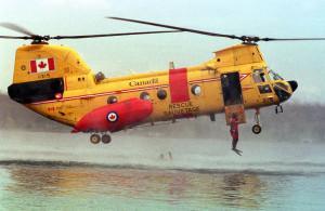 CH-113 Labrador launching SAR techs