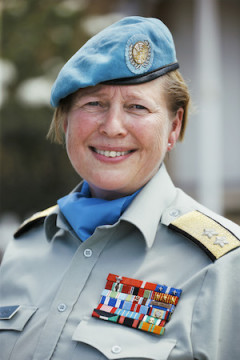 Force Commander Kristin Lund UNFICYP (United Nations Peacekeeping force in Cyprus)